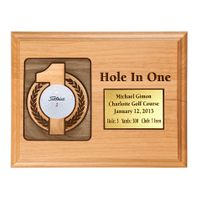 Hole-In-One 7x9 Laser Etched Plaque with Brass Plate