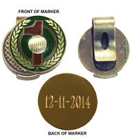 Personalized Hole-in-One Hat Clip Ball Marker