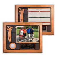 Hole-In-One Photo/Scorecard Sandcarved Plaque