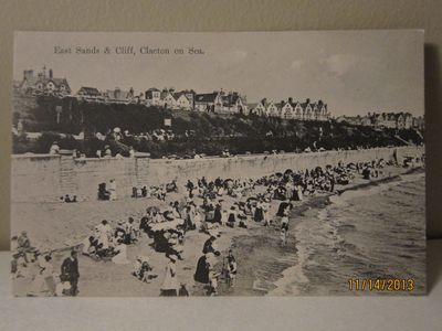 East Sands & Cliff, Clacton on Sea - W. & S. I., Winova Series