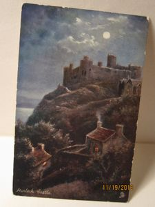 "Harlech Castle, Wales - an ""Oilette"" postcard published by Raphael Tuck & Sons"