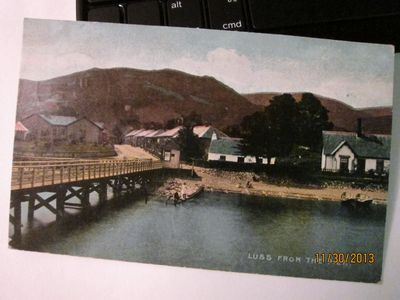 """Luss from the Pier"" Antique Postcard, postmarked 1904 in The ""National"" Series"