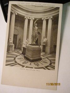 North Sculpture Hall, The Lady Lever Art Gallery, Fort Sunshine - Photographic Postcard