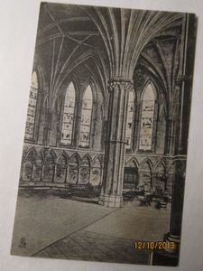"""The Chapter House, Lincoln Cathedral"" printed by Raphael Tuck & Sons"
