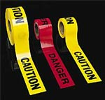 No Adhesive Barricade Tape and Flagging Tapes