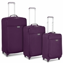 Biaggi Leggero Foldable Spinner 3-Piece Luggage Set