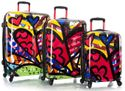 """Britto by Heys 3-Piece Transparent 'See-Through' Luggage Set - """"A New Day"""""""
