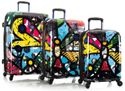 """Britto by Heys 3-Piece Transparent 'See-Through' Luggage Set - """"Butterfly"""""""