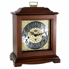 Ashland Keywound Mantel Clock by Hermle - Cherry Finish