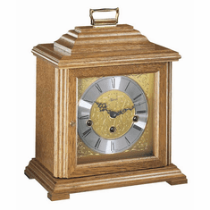 Ashland Keywound Mantel Clock by Hermle - Oak Finish