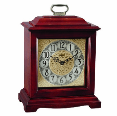 Ashland Mantel Clock by Hermle - Cherry Finish