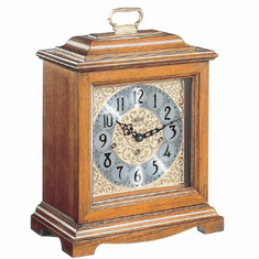 Ashland Mantel Clock by Hermle - Oak Finish