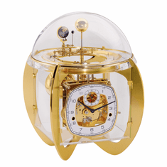 Astro Brass Key Wound Tellurium Table Clock by Hermle