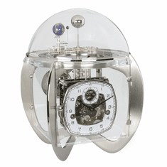 Astro Nickel Key Wound Tellurium Table Clock by Hermle