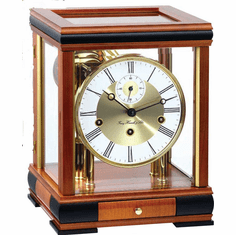 Bergamo Mantel Clock Cherry by Hermle