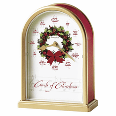 Carols of Christmas II Quartz Mantel Clock by Howard Miller
