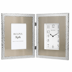 Cobblestone Picture Frame Clock by Bulova