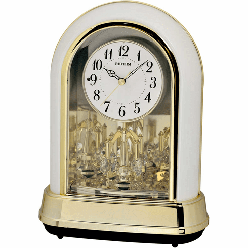 Crystal Dulcet II Pearl Mantel Clock by Rhythm