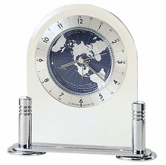 Discoverer Alarm Table Clock by Howard Miller
