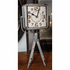 Easel Gray Mantel Clock