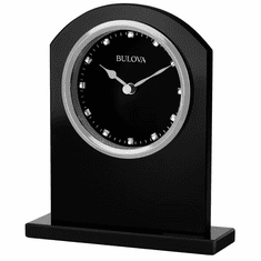 Ebony Crystal Mantel Clock by Bulova