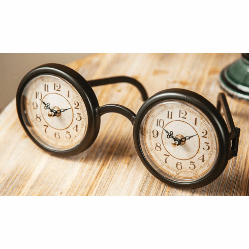 Eyeglasses Table Clock by Manual Woodworkers and Weavers