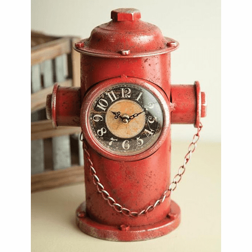 Fire Hydrant Table Clock by Manual Woodworkers and Weavers