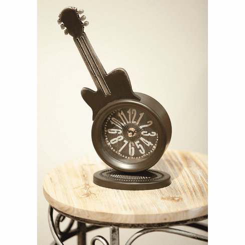 Guitar Mantel Clock