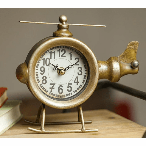 Helicopter Table Clock by Manual Woodworkers and Weavers