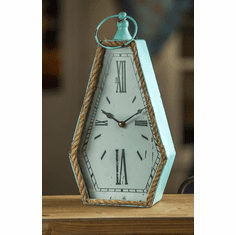 Hexagon Rope Table Clock by Manual Woodworkers and Weavers