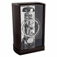 Jaxon Mantel Clock Silver Rail Black by Hermle