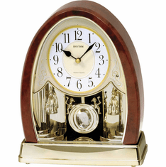 Joyful Crystal Bells Mantel Clock by Rhythm