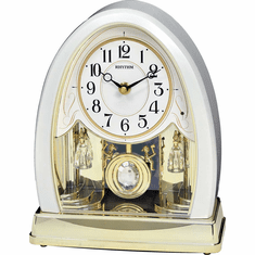Joyful Crystal Pearl Mantel Clock by Rhythm