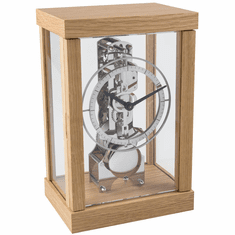 Kolton Mantel Clock Oak by Hermle