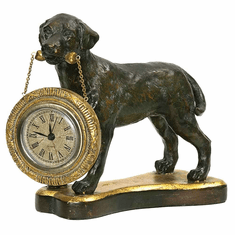 Labrador Retriever Mantel Clock by Sterling