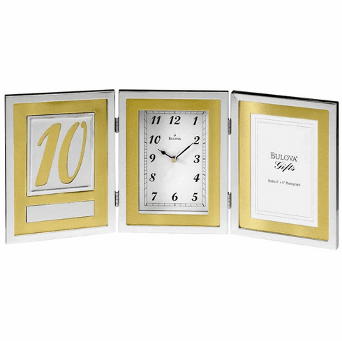 Medallion Picture Frame Clock by Bulova