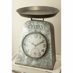 Metal Scale Table Clock