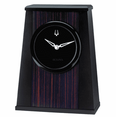 Oblique Mantel Clock by Bulova