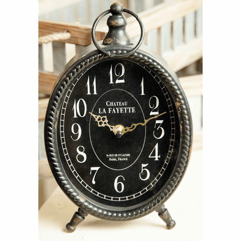 Oval Table Clock by Manual Woodworkers and Weavers