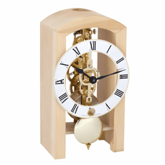 Patterson Swiss Stone Pine Mantle Clock by Hermle