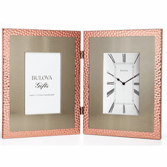 Pebblestone Picture Frame Clock by Bulova