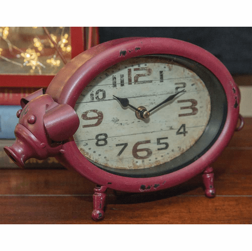 Pig Table Clock by Manual Woodworkers and Weavers