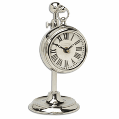 Pocket Watch Nickel Marchant Cream Mantel Clock by Timeworks