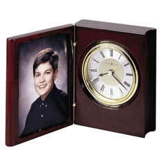 Portrait Book Picture Frame Clock by Howard Miller