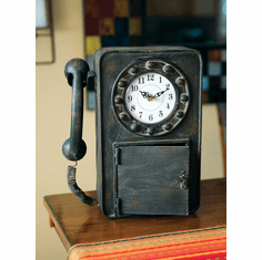 Retro Telephone Table Clock