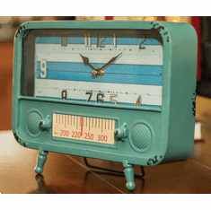 Retro TV Table Clock by Manual Woodworkers and Weavers