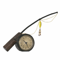 Rod 'n' Reel Mantel Clock by Sterling