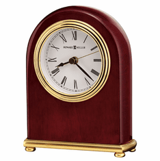 Rosewood Arch Alarm Clock by Howard Miller