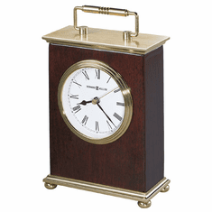 Rosewood Bracket Quartz Mantel Clock by Howard Miller