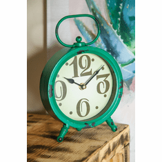 Round Green Table Clock